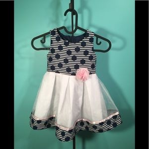 Bonnie Jean Navy dot Dress Size 3T
